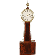 William Grant Boston C. 1820 Weight Driven Banjo Clock w/ original signed dial & original Mahogany tablets