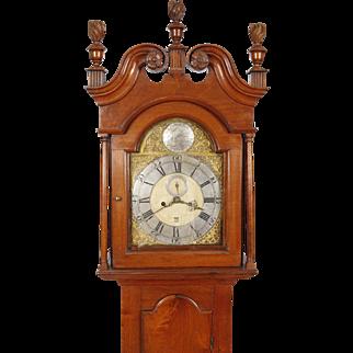 William Huston Philadelphia Walnut Chippendale Tall Case Clock C. 1770