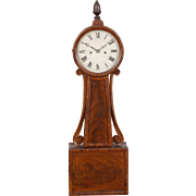 Willard School Weight Driven Wood Front Striking Banjo Clock, Boston C. 1835