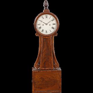 Willard School Weight Driven Wood Front Striking Banjo Clock, Boston C. 1835