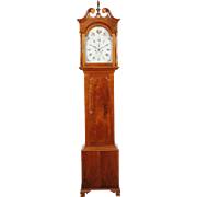 Morgan Hollinshead No. 95, Moorestown C. 1800 Walnut Chippendale Burlington County NJ Tall Case Clock