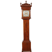 Philadelphia Walnut Queen Anne Tall Case Clock C. 1725 made by Peter Stretch