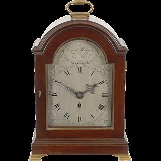 David Magnin New York Mahogany Fusee Bracket Clock C. 1800