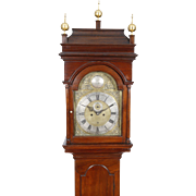 Isaac Brokaw New Jersey Brass Dial Queen Anne Walnut Tall Case Grandfather Clock