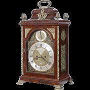 London Mahogany Fusee Bracket Clock made by Thomas Gardner C. 1770