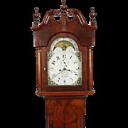 Joakim Hill Flemington NJ Mahogany Tall Case Clock C. 1820