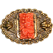 Vintage jewelry  Neiger Brothers  Peking glass pin