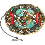 1920's Czechoslovakia large Neiger Brothers Brooch