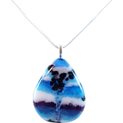 Artisan Fused Glass Pendant and Earring Set