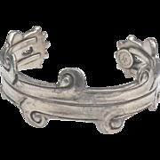 William  Spratling 1940's cuff bracelet Silson  plated  signed cholula design