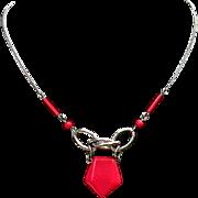Vintage art deco machine age Bengel necklace