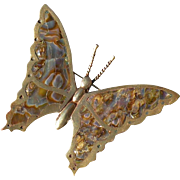 Vintage mexico sterling silver abalone butterfly
