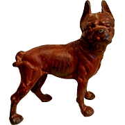 Large Cast Iron Boston Terrier