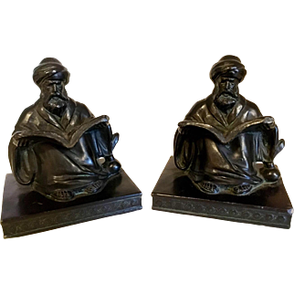Art Deco Scholar Bookends LV Aronson c. 1923