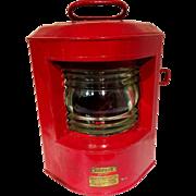 Vintage Red Marine German Lantern Ahlemann Schlatter Bremen