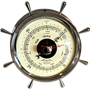 Chrome Airguide Nautical Theme Compensated Barometer