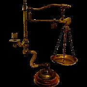 Antique Victorian Brass Scale