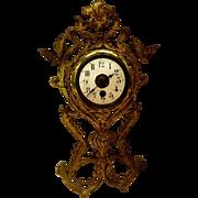 Antique Junghans Ornate German Brass Clock