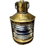 Brass Nautical Starboard Ships Oil Lantern Made in Great Britain 1969