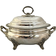 A Large Electroplate Silver Chafing Serving Dish. By G.R. Collis & Co., 2nd Half of the 19th Century. Marked Collis & Co. 130 Regent St. London