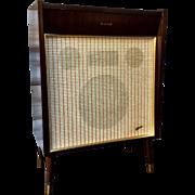 """Mid Century West German Speaker by Heco. 5 Ohm.  """"Magnetfabrik Dortmund Dew"""""""