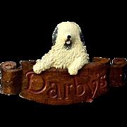 Original Handmade Wood Darby's Pub Sign Vancouver BC