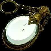 Antique Chatelaine Bevelled Mirror Perfume Bottle