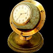 Lux Brand Art Deco Globe Clock