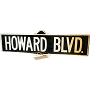 Vintage Howard Blvd. Aluminum Street Sign. Lake Shore Markers.