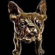 Vintage Cast Metal French Bulldog Figurine