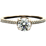 14k Rose Gold Diamond Engagement Ring 0.79TCW. $7450 Appraised