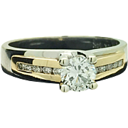 14k White/Yellow Gold Diamond Engagement Ring. 0.56TCW. $4725 Appraised