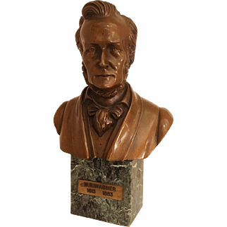 Vintage Bronze Bust of W.R. Wagner
