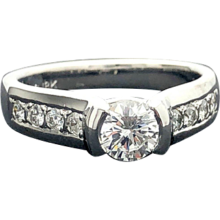 18k White Gold 0.51ct GIA Canadian Diamond Engagement Ring 0.83TCW
