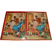 Block do a jigsaw puzzle with 6 pictures * From life * Chromolithography at 1880
