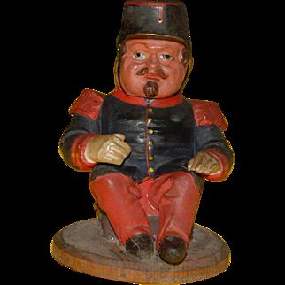 antique papiermaché Candybox * French soldier * around 1850-1860