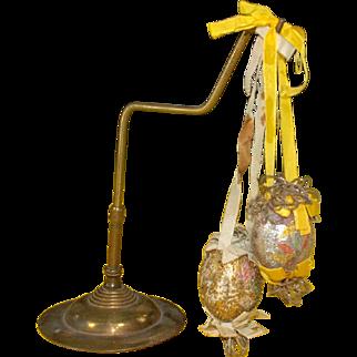 2 very rare Biedermeier Easter eggs * museal * around 1840-1850