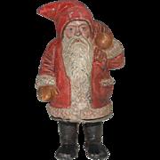 Little rarity! rare metal casting money box - still bank Santa Claus * germany at 1900