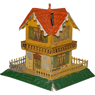 GBN brothers Bing money box house * metal at 1900-1905