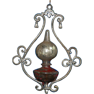Doll house paraffin lamp made of tin & glass * model 2 * Germany at 1900