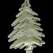 Sterling silver fir tree pin