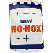 Porcelain Gulf No-Nox Gasoline Pump Sign from the 1960's