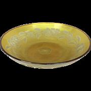 """L C Tiffany Gold  Favrile Art Glass Intaglio cut Bowl 10"""""""