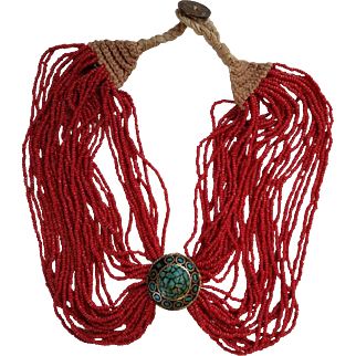 Mid-20th Century Coral Bead Necklace