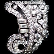 1938 Crown Trifari Alfred Phillipe Dress Clip