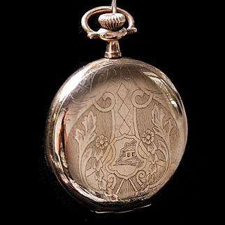 Vintage Gold Filled Elgin Napolean Ladies Pocket Watch 15 Jewels 12s 1920s