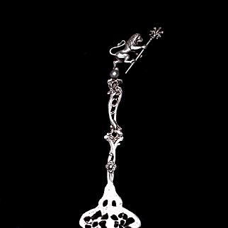 Italian Ugo Bellini Serving Fork 800 Silver