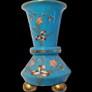 Blue Opaline Vase