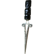Silver and Onix Letter Opener