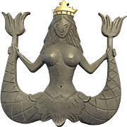 Mermaid Family Crest Doorknocker